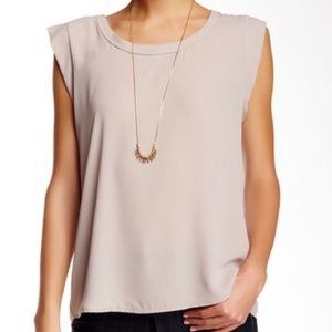 Pleione Cap Sleeve Pleat Back Blouse